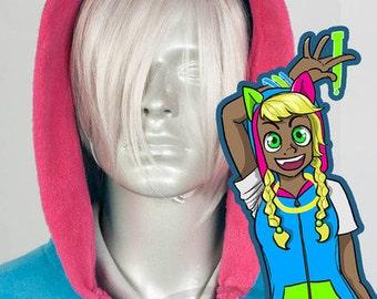 Kandi Cat Hoodie, Costume, Cosplay, Adult Size, Hand-made