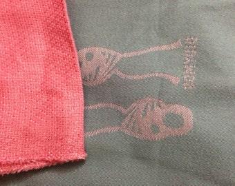 Wrap conversion mei tai from Nino rosé and pink fuchsia jacquard.