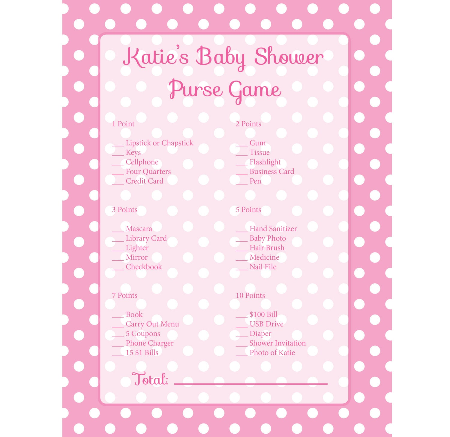 baby shower game pink purse scavenger hunt for baby shower diy