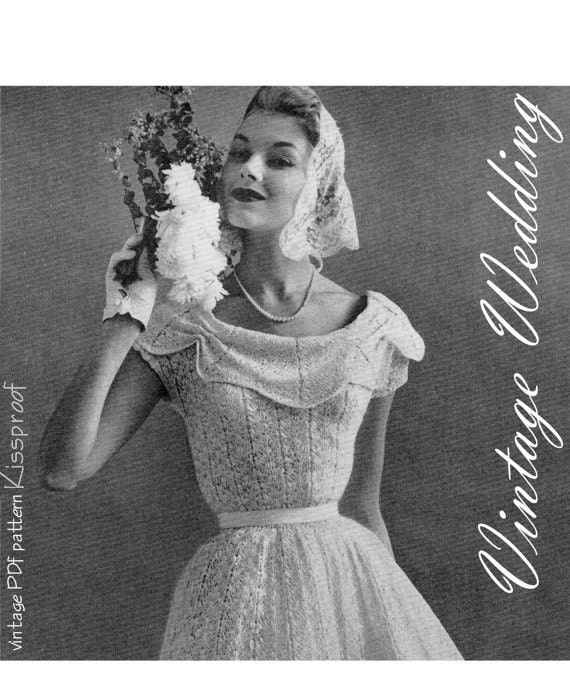Vintage 50 s wedding gown pattern