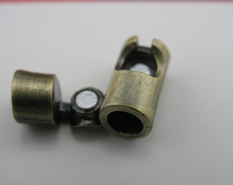 5pcs 6.0mm Opening Antique Brass Cylinder Magnetic Clasp