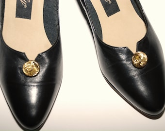 Vintage Selby Black Shoes....Size 7 1/2