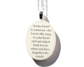 Best friend necklace . friendship necklace . Going away gift . personalized jewelry, eco friendly graduation gift, friendship gift