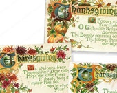VINTAGE THANKSGIVING POSTCARDS  tags invitations easy to download and print printable download  Magentabelle digital collage sheet 138