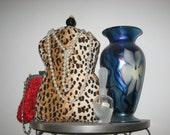 Mannequin pin cushion, Leopard / Jaguar Fabric, Handmade, Acessories, Women, Home Decor, Jewelry Holder