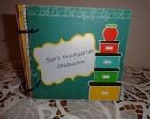 Custom order  for  jniedfeldt Kindergarten Graduation Keepsake scrapbook