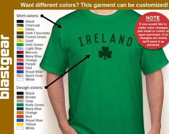 IRELAND clover leaf Irish T-shirt — Any color/Any size - Adult S, M, L, XL, 2XL, 3XL, 4XL, 5XL  Youth S, M, L, XL