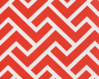 Zigzag Coral - GeoCentric2 - Canvas - Cloud 9 Fabric - LAST 1.5 Yards