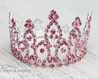 Newborn Baby Girl Tiara Crown - Crystal Crown - Castalie - Newborn Baby Girl Infant Tiara Crown