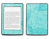Amazon Kindle Paperwhite Skin Cover - Blue Swirls  - Kindle Cover, Kindle Paperwhite Cover