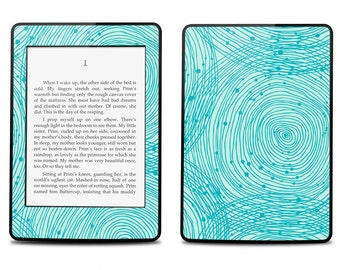 Amazon Kindle Paperwhite Skin Cover - Blue Swirls  - Kindle Cover, Kindle Paperwhite Cover