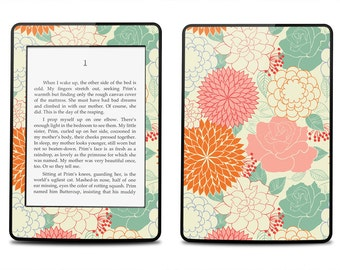 Amazon Kindle Paperwhite Skin Cover - Summer Floral Pattern - Kindle Cover, Kindle Paperwhite Cover