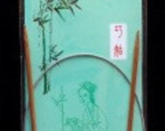 ChiaoGoo bamboo circular needles -  4.50 mm and 60 cm long