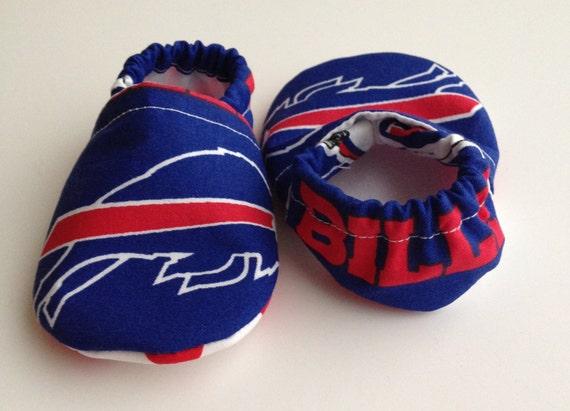 Buffalo Bills Cloth Baby Booties