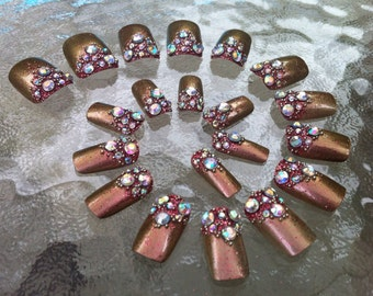 Kathak (Traditional Dance Of India) Artificial Nail Art