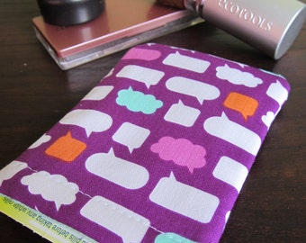 Birth Control Pill Case Sleeve- Pop ups on Purple