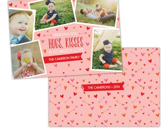 INSTANT DOWNLOAD -  Valentine Photoshop Template - E981