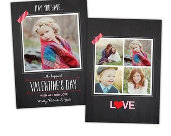INSTANT DOWNLOAD -  Valentine Photoshop Card- E984