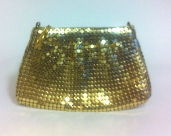 Gold metal purse small Free shipping