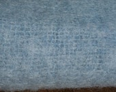 Vintage Blue Mohair & Wool Shawl