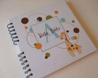 Baby Book |  Baby Memory Album | Giraffe Wire Bound Baby Memory Book