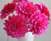 Paper dahlia for wedding bouquet,table decor ,anniversary gift