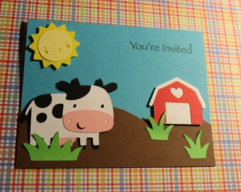 Barn Yard / Farm  Party Invitations