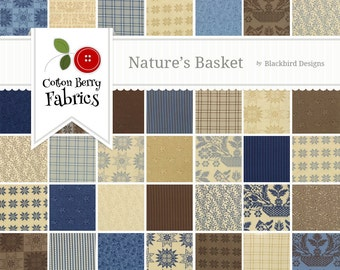 Nature's Basket Jelly Roll by Blackbird Designs for Moda - One Jelly Roll - 2720JR