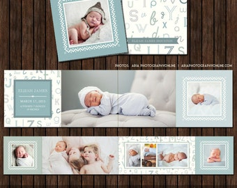 3x3 Earthtone Mini Accordion Album Template - A13