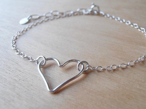 Silver Heart Bracelet - Sterling Silver