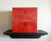 Pair of vintage steel boxes - chic industrial storage