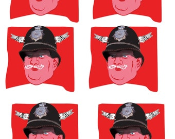 Flying Policeman Stickers
