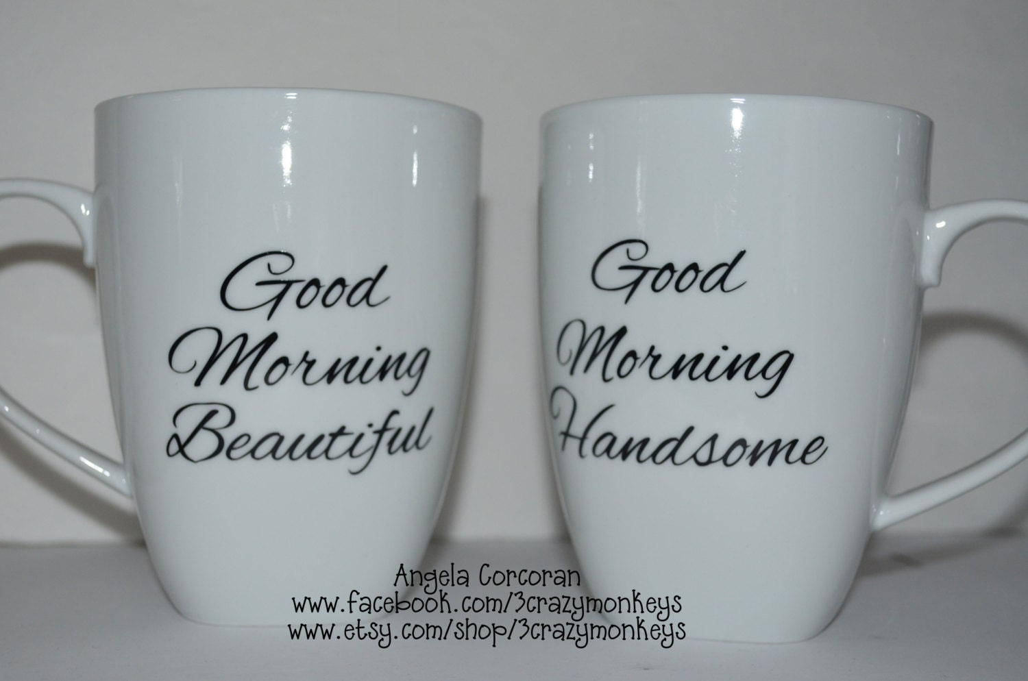 coffee mugs cups good morning beautiful u0026 handsome wedding