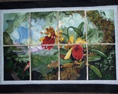 Hummingbird and Orchids Wallhanging