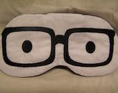 Embroidered Eye Mask, Sleeping, Cute Sleep Mask for Kids or Adults, Sleep Blindfold, Slumber Mask, Eye Shade, Eye Glasses Design, Handmade