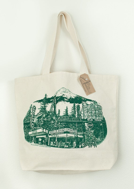The Ultimate Portland Silkscreened Canvas Tote