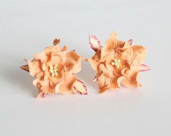 10 pcs - 4 cm Peach gardenia flower