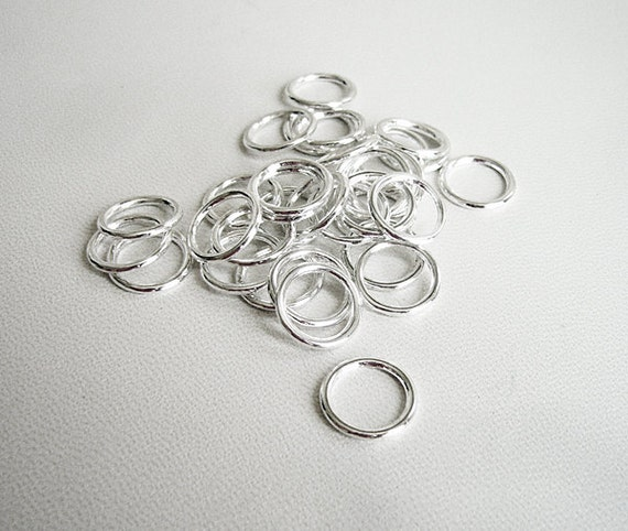items similar to 100 pcs silver platted soldered rings