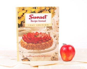 iPad Cover- Tablet Case made from a Book- Vintage Sunset Annual Recipe Cookbook 1989