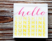 Hello Sunshine,  Pink and Yellow soap, lemon, orange, grapefruit and florals