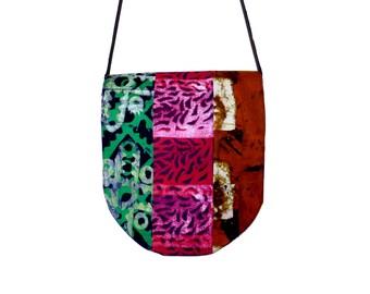 African Messenger Bag - Wax Print Batik - Patchwork - Support the Deaf in Ghana