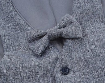 Mix grey little boys  bow tie