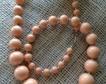 Vintage Peach Colored Necklace