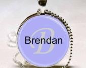 Brendan Name Monogram Handcrafted  Necklace Pendant (NPD0366)
