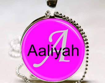 Aaliyah Name Monogram Handcrafted  Necklace Pendant (NPD0001)
