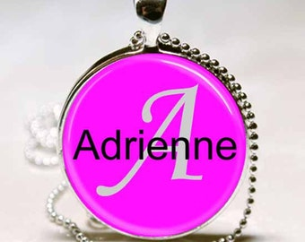 Adrienne Name Monogram Handcrafted  Necklace Pendant (NPD0015)