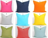 SOLID Pillow Covers, ALL SIZES, Decorative Pillow Cover, Throw Pillow, Solid Yellow, Solid Pink, Solid Blue, Solid Orange, Solid Gray, Green