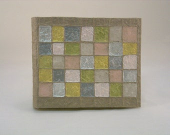 "photo album ""light metallic squares"""