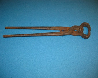 "Vintage 14"" Horseshoe Blacksmith Pliers"