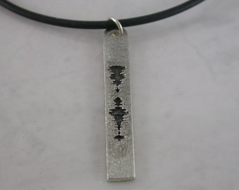 Narrow Sound Wave Pendant